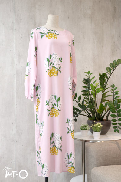 Caitlyn Floral Dress in Pink - Saja Mi-O