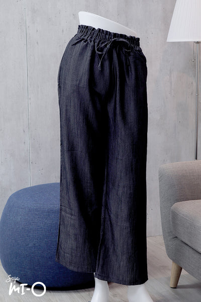 Ulla Casual Flare Pants in Charcoal Grey - Saja Mi-O