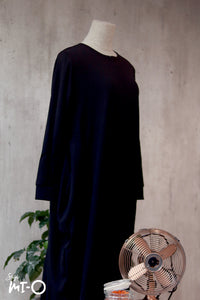Zaqya Basic Everyday Long Dress in Black - Saja Mi-O