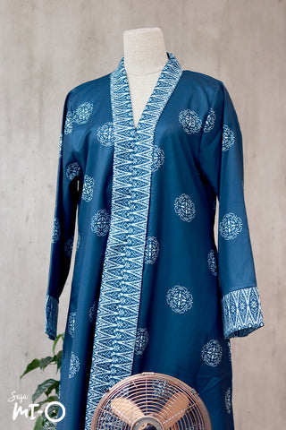 Lyla Songket Jubah in Teal
