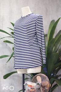 Ashtar Striped Top in Black - Saja Mi-O