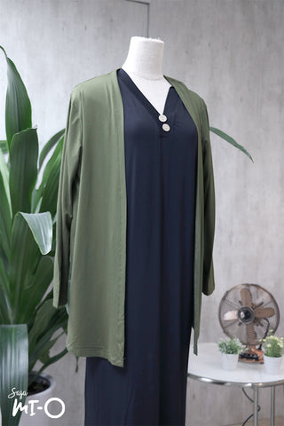 Casey Slip Cardigan in Army Green