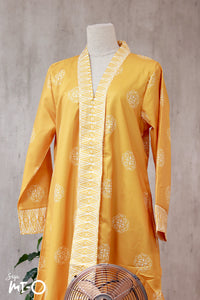 Lyla Songket Jubah in Honey Yellow