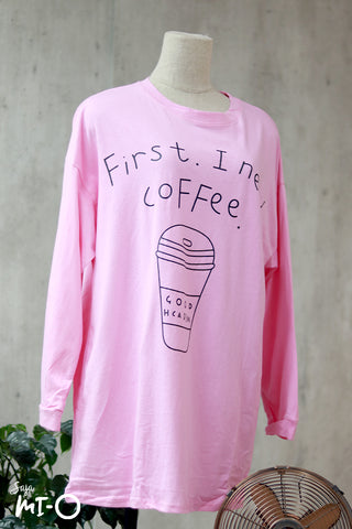 Olivia Coffee-First Top In Crepe Pink