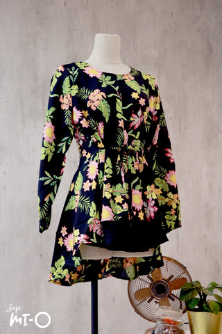 Dhia Full Bloom Top in Black - Saja Mi-O