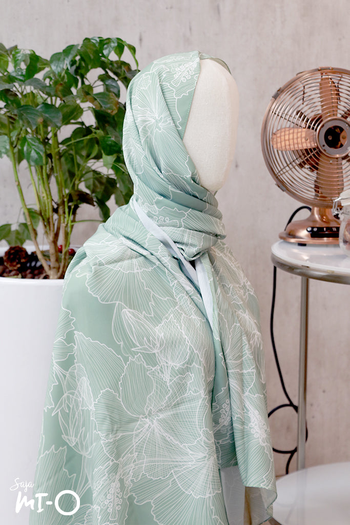 Feryal Orchid Heasdscarf in Green