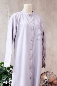 Raidah Solid Button-down Abaya in Grey