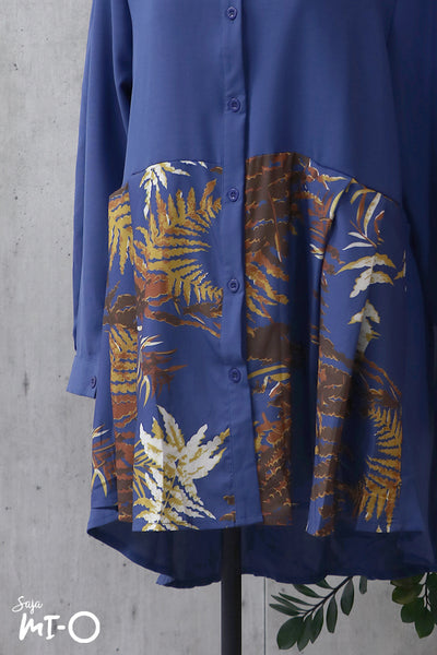 Herayn Autumn Top in Cobalt Blue - Saja Mi-O