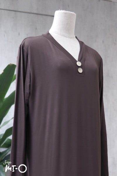 Jacintha Breezy Dress in Brown - Saja Mi-O