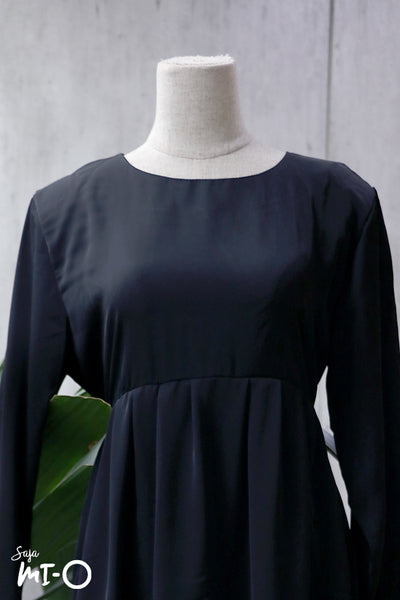 Airin Babydoll Top in Black - Saja Mi-O