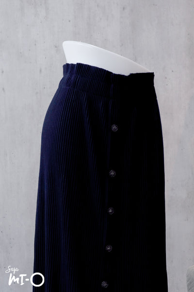 Aislin Button Front Skirt in Mulberry - Saja Mi-O