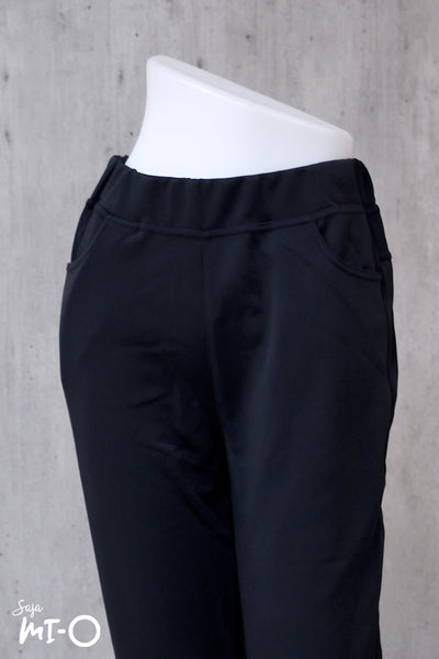 Kamila Pull-On Pants in Black - Saja Mi-O