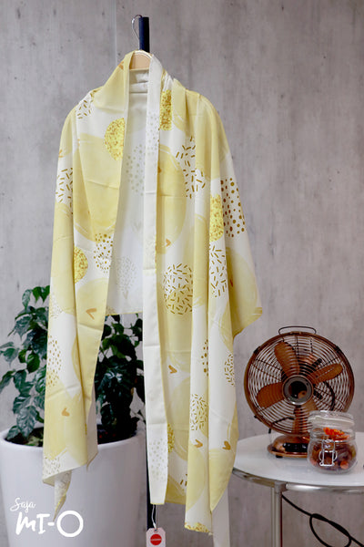 Lyn Abstract Blooms Tudung in Yellow