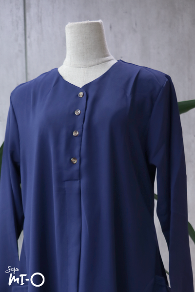 Tess Shirtdress in Navy - Saja Mi-O