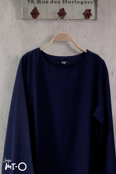 Shereen Plain Top in Navy