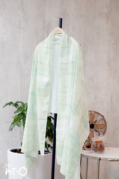 Nasiha Abstracts Headscarf in Green - Saja Mi-O