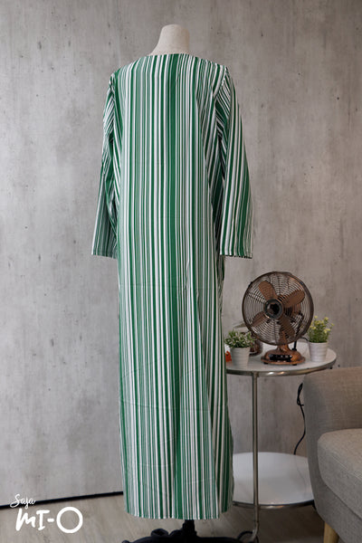 La Belle Striped Dress in Green