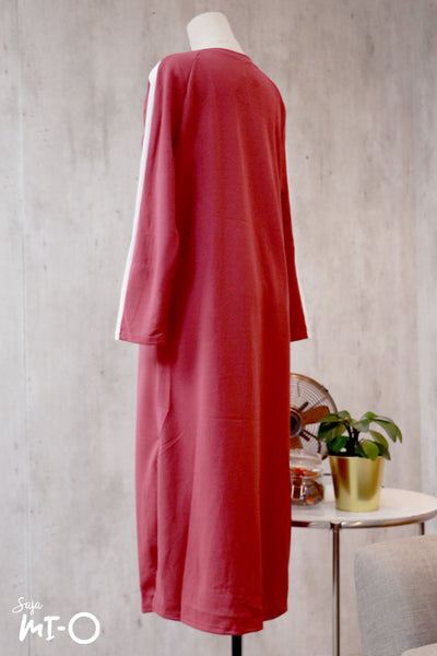 Kinza Long Dress in Red