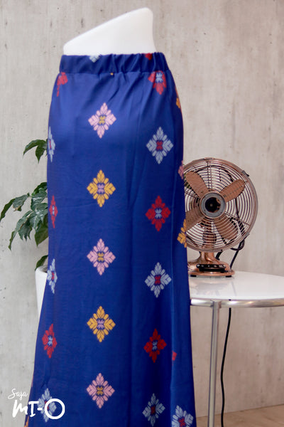 Eliza Songket Prints Skirt in Cobalt Blue - Saja Mi-O