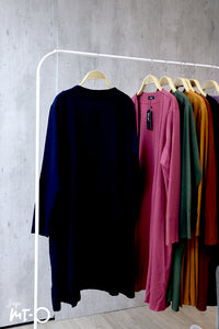 Nisa Open Cardigan in Navy Blue