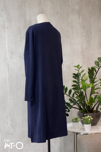 Leith Simply Slits Dress in Navy