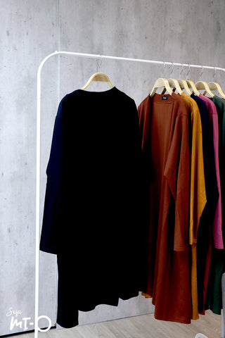 Nisa Open Cardigan in Black