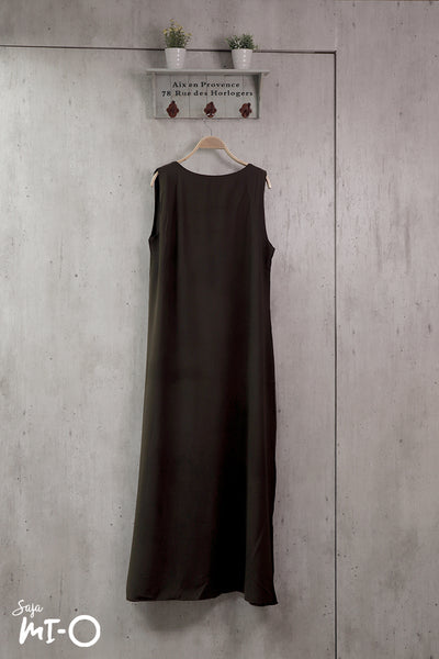 Jehan Chiffon Dress in Green