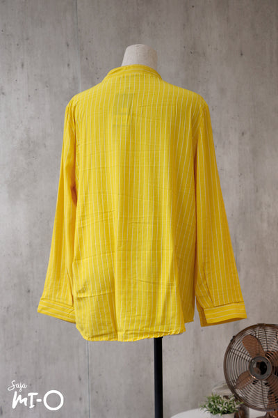 Natalie Twin Pocket Stripes Top in Sunshine - Saja Mi-O