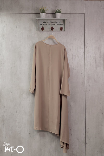 Jayley Asymmetric Dress in Camel