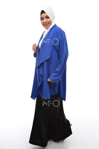 Daisha Waterfall Cardigan in Blue - Saja Mi-O