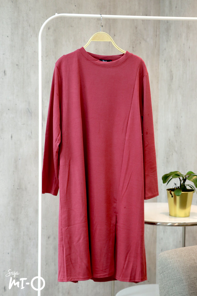 Layla Long-sleeved Dress in Rose Pink