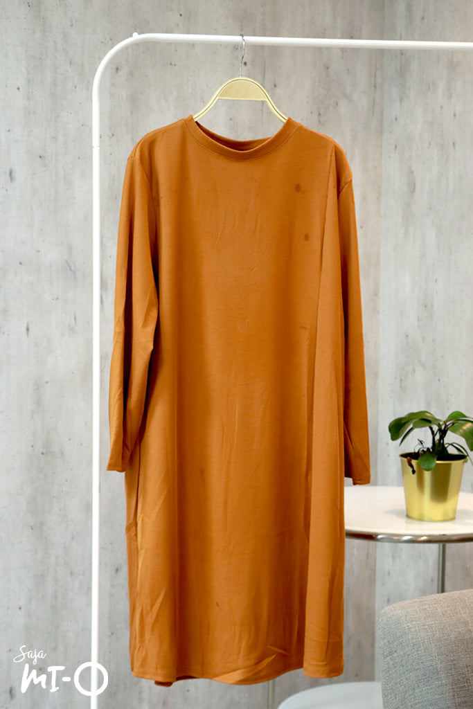 Layla Long-sleeved Dress in Mustard