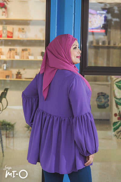 Jayina Solid Top in Purple - Saja Mi-O