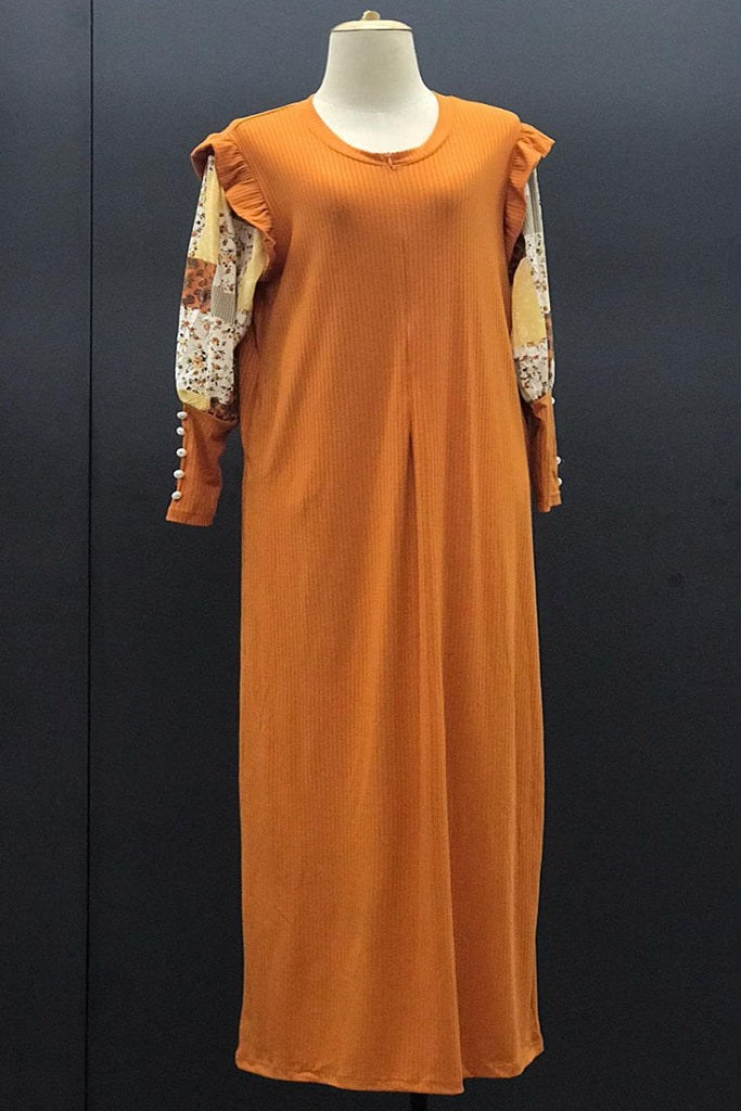 Ximena Long Dress in Orange