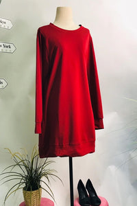 Mona Sporty Sweat Shirt in Bloody Red - Saja Mi-O