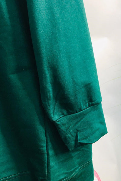 Mona Sporty Sweat Shirt in Forest Green - Saja Mi-O