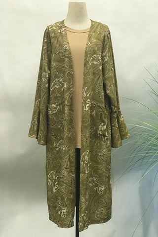 Clara Slip-on Long Sleeve Cardigan in Brown