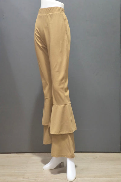 Atharra Two Layer Bell Pants in Brown