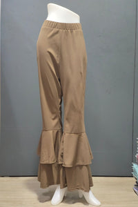 Atharra Two Layer Bell Pants in Mocha