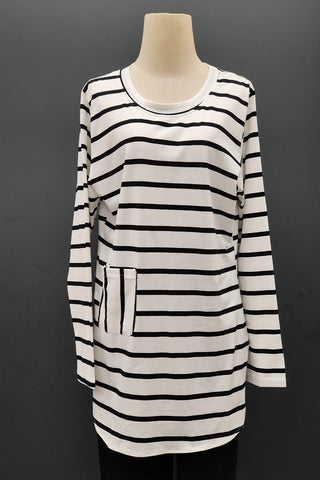 M-Series Slimming Top in Stripe White