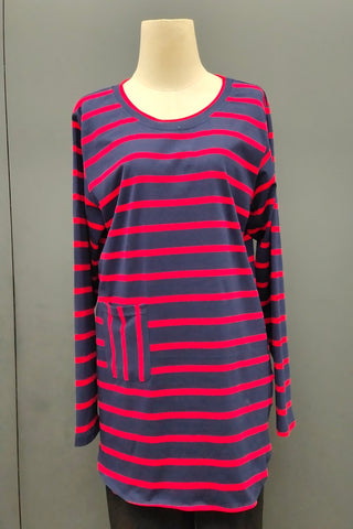 M-Series Slimming Top in Stripe Red