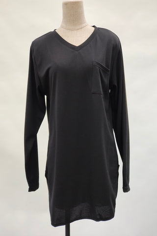Aurora V-Neck Top in Black