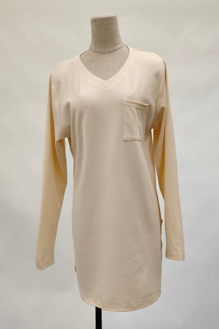 Aurora V-Neck Top in Cream
