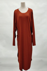 Martha Plus Size Long Top in Golden Brown