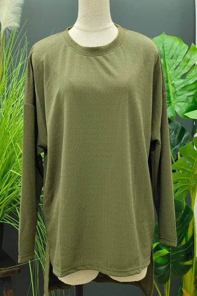 Tala Over Size Top in Army Green