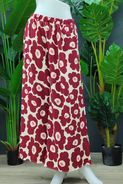 Floral printed Palazzo in Red
