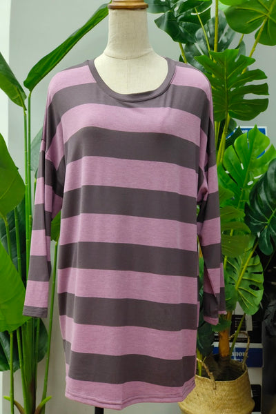 Jorina Stripe Top in Purple