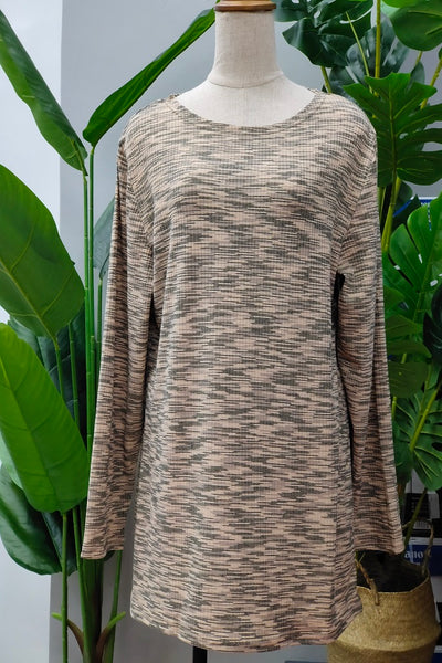 Chandra Printed Top in Brown