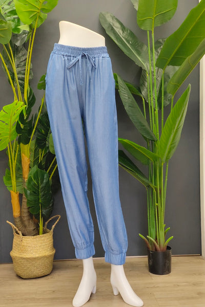 Nica Jogger Pants in Steel Blue