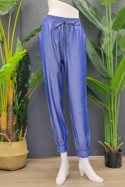 Nica Jogger Pants in Midnight Blue
